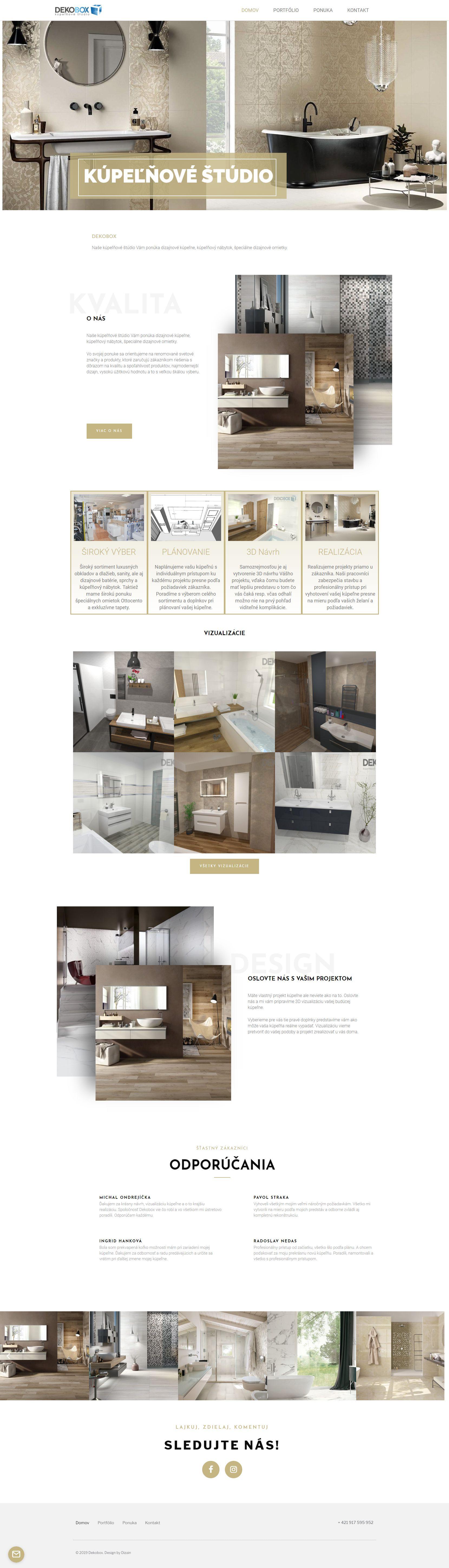 dekobox internetová stránka