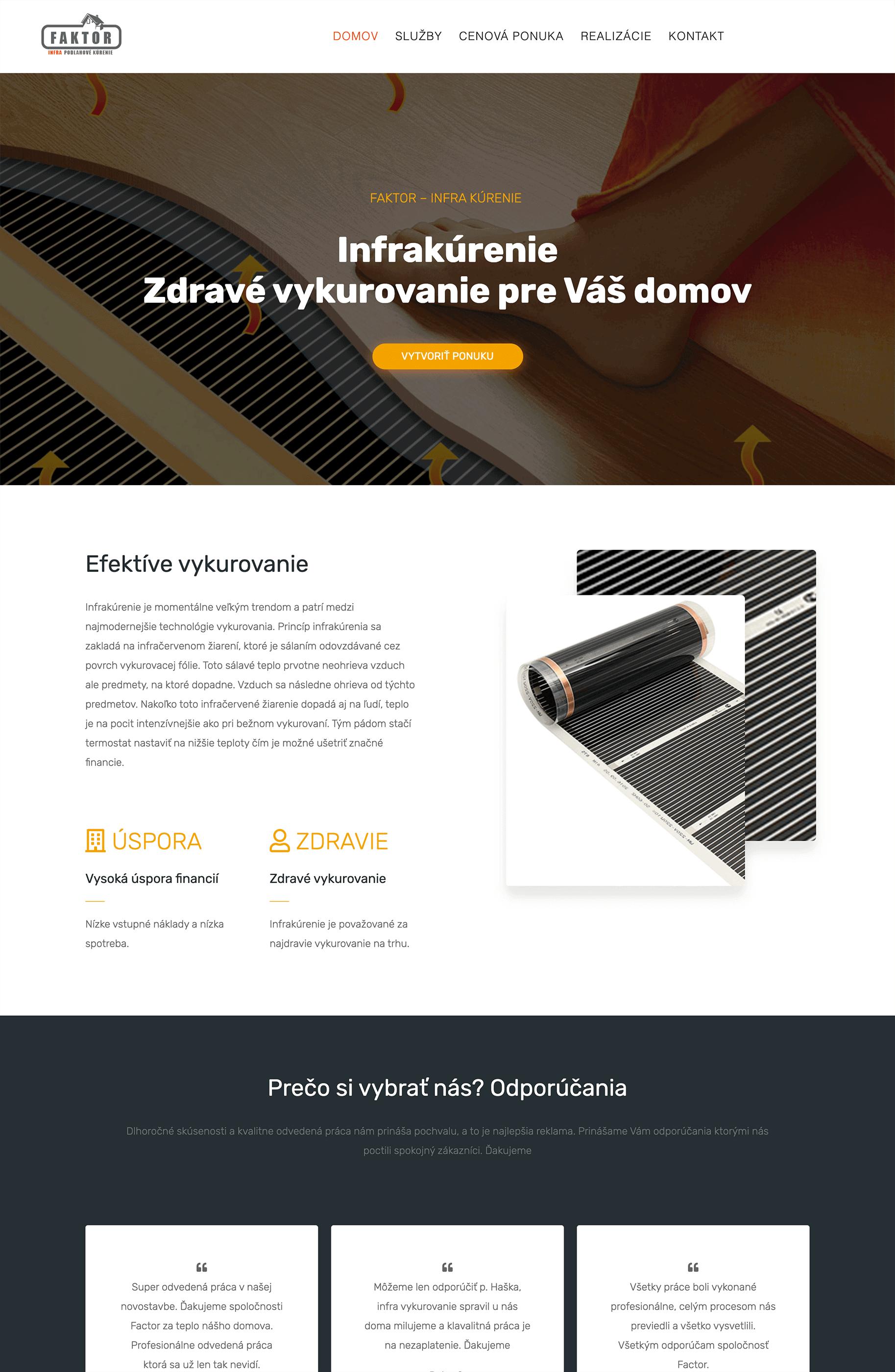web design infrakurenie